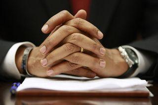 Obamas hands